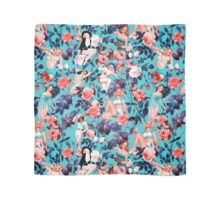 Pinup and Floral Pattern Scarf