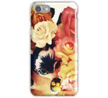 Cute Floral Cat iPhone Case/Skin