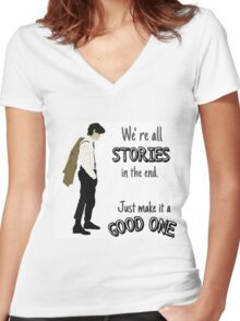 Doctor- Stories Women's Fitted V-Neck T-Shirt