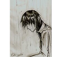 Rain anime guy Photographic Print