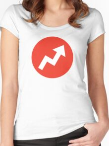 Buzzfeed Logo Red Women's Fitted Scoop T-Shirt