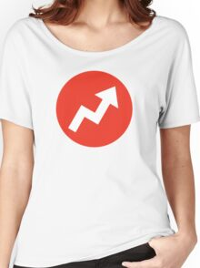 Buzzfeed Logo Red Women's Relaxed Fit T-Shirt
