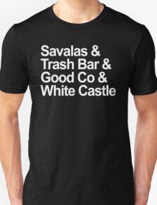 Savalas, GoodCo, Trash Bar, White Castle nostalgia tee Unisex T-Shirt