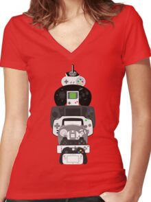 video games controllers Women's Fitted V-Neck T-Shirt