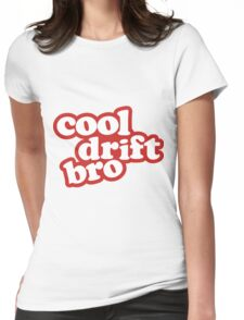 Cool drift bro - red Womens Fitted T-Shirt