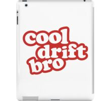 Cool drift bro - red iPad Case/Skin