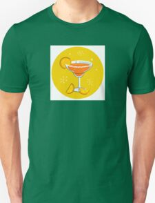 Orange retro drink with fruit. Vector cartoon Illustration Unisex T-Shirt