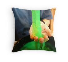 Flubber Experiments Throw Pillow