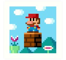 pixel World Art Print