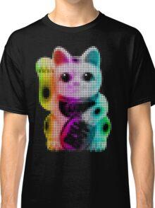 Pop Art Circles Lucky Cat - Maneki Neko Classic T-Shirt
