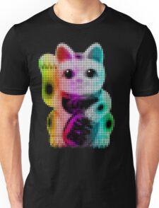 Pop Art Circles Lucky Cat - Maneki Neko Unisex T-Shirt