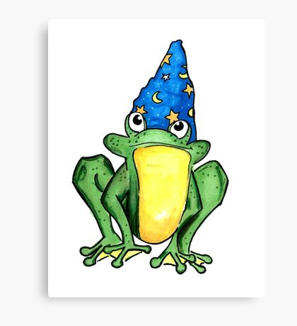 Wizard Frog  Canvas Print