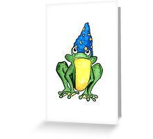 Wizard Frog  Greeting Card
