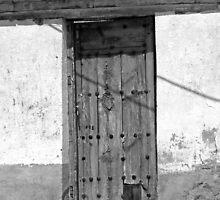 Talamanca de Jarama - Old Wooden Door by Michelle Falcony