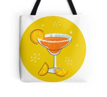 Orange retro drink with fruit. Vector cartoon Illustration Tote Bag