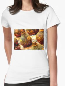 African Vases Womens Fitted T-Shirt