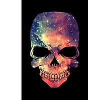 Universe - Space - Galaxy Skull Photographic Print