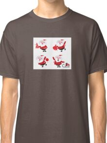 Vector Santas in various poses collection Classic T-Shirt