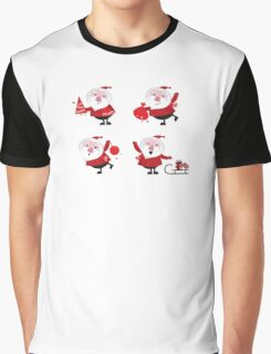 Vector Santas in various poses collection Graphic T-Shirt