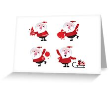 Vector Santas in various poses collection Greeting Card