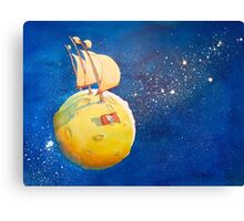Sailing the Moon Canvas Print