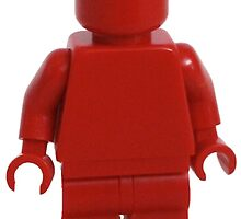 Iconic Red Monochrome Minifigure by bricksandplates