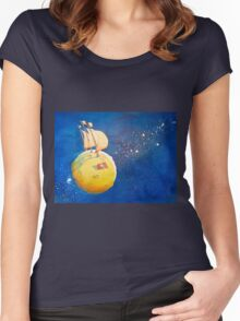 Sailing the Moon Women's Fitted Scoop T-Shirt