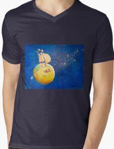 Sailing the Moon Mens V-Neck T-Shirt