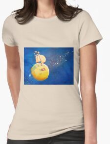 Sailing the Moon Womens Fitted T-Shirt