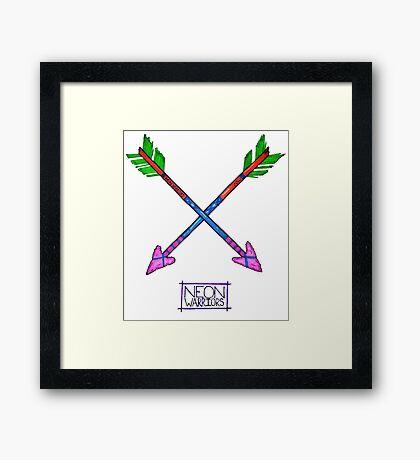 Neon Warriors Arrows  Framed Print