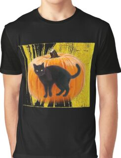 halloween black cat Graphic T-Shirt