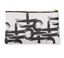 abstract geometry brushstroke  Studio Pouch