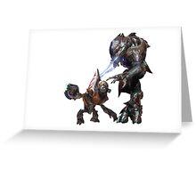 Halo Grunt & Elite Greeting Card