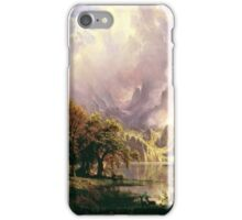 Albert Bierstadt - Rocky Mountain Landscape iPhone Case/Skin