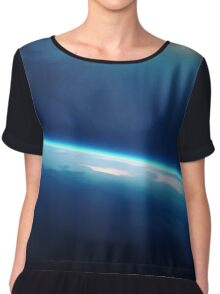 Planet earth sunrise from space Chiffon Top