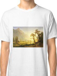Albert Bierstadt - Sunrise, Yosemite Valley ( 1870)  Classic T-Shirt