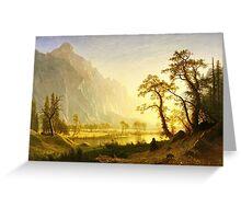 Albert Bierstadt - Sunrise, Yosemite Valley ( 1870)  Greeting Card