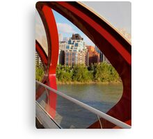 View from Peace Bridge Canvas Print