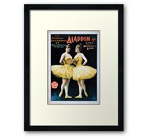Performing Arts Posters Aladdin Jr a tale of a wonderful lamp 0005 Framed Print