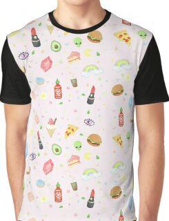 Nineties Stickers Redone - Sriracha and Rupees.  Graphic T-Shirt