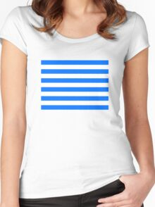 Hand drawn sailor stripes, seamless pattern Women's Fitted Scoop T-Shirt