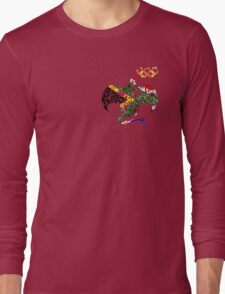 SOUTH AFRICA DRAGON FIRE RINGS FLAG Long Sleeve T-Shirt