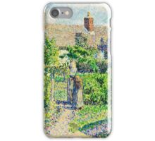 Camille Pissarro - Peasants houses, Eragny (1887)  iPhone Case/Skin