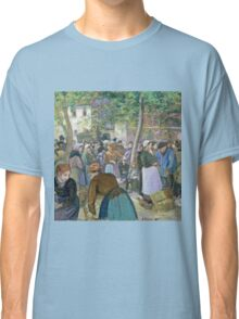 Camille Pissarro - Poultry Market at Gisors (1885)  Classic T-Shirt