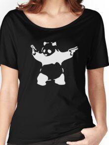 BANKSY KUNG FU PANDA GUNS Women's Relaxed Fit T-Shirt