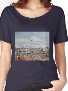 Camille Pissarro - The Pilots Jetty at Le Havre (1903)  Women's Relaxed Fit T-Shirt
