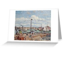 Camille Pissarro - The Pilots Jetty at Le Havre (1903)  Greeting Card