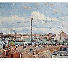 Camille Pissarro - The Pilots Jetty at Le Havre (1903)  Photographic Print