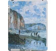 Claude Monet - Cliffs Of Les Petites Dalles iPad Case/Skin