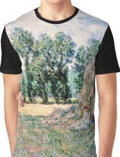 Claude Monet - Haystacks (1885)  Graphic T-Shirt